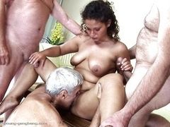 Габриэль трахают три старика